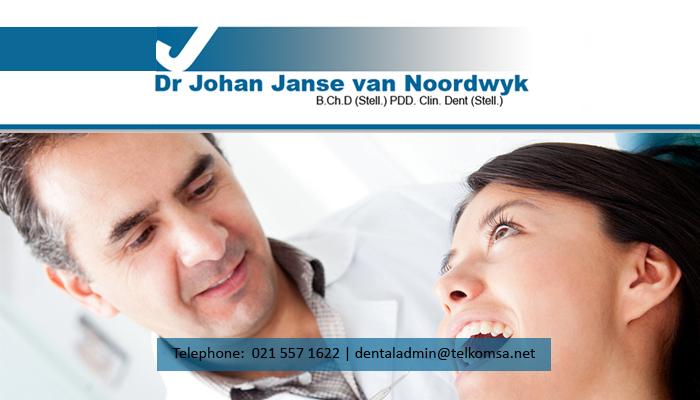 Dr Johan Janse van Noordwyk - Professional dental care in