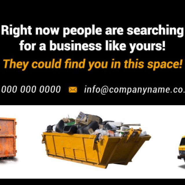 Advertise Here for Skip Hire Today